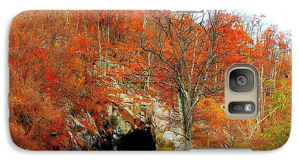 Galaxy Case featuring the photograph Autumn Tunnel by Candice Trimble