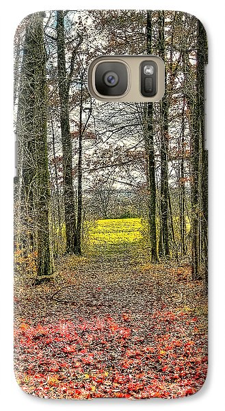 Galaxy Case featuring the photograph Autumn Tunnel Vision by Jim Lepard