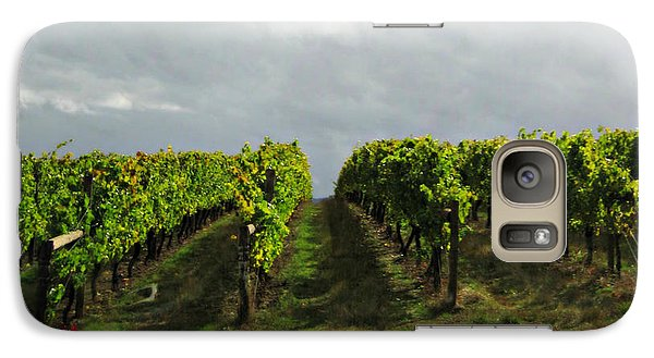 Galaxy Case featuring the photograph Autumn Vineyard by Mindy Bench