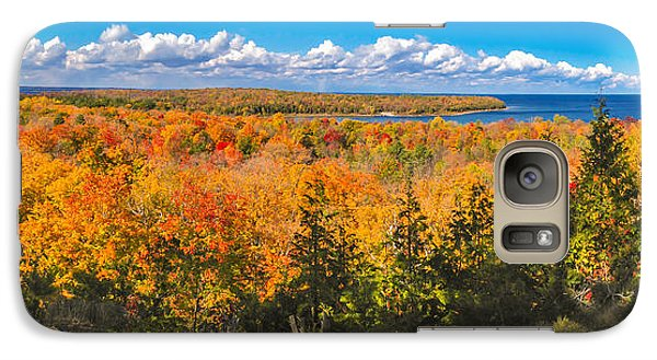 Galaxy Case featuring the photograph Autumn Vistas Of Nicolet Bay by Mark David Zahn