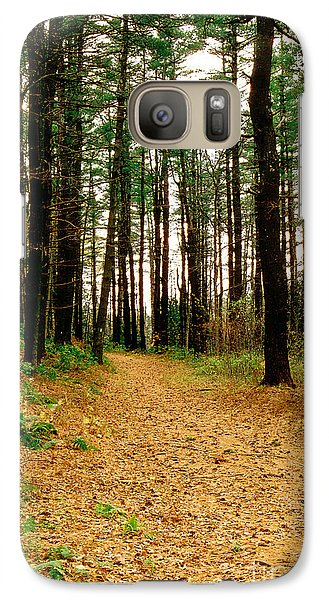 Galaxy Case featuring the photograph Autumn Walk by Raymond Earley