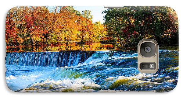 Galaxy Case featuring the photograph Amazing Autumn Flowing Waterfalls On The River  by Jerry Cowart