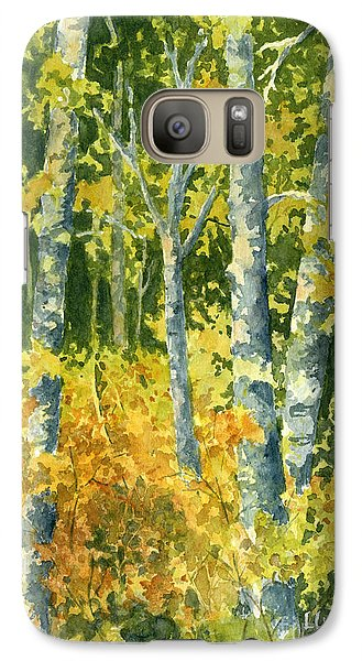 Galaxy Case featuring the painting Autumn Woods by Lynne Wright