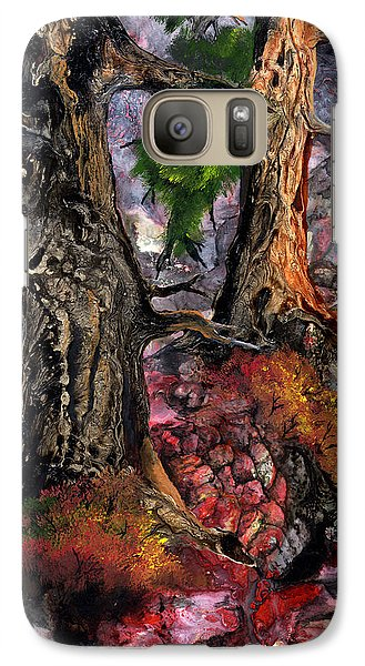 Galaxy Case featuring the painting Autumn Woods by Sherry Shipley