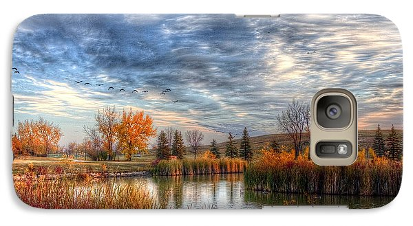Galaxy Case featuring the photograph Autumnal Morn by Larry Trupp