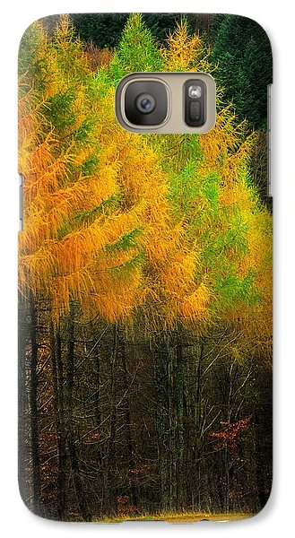 Galaxy Case featuring the photograph Autumnal Road by Maciej Markiewicz