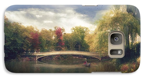 Galaxy Case featuring the photograph Autumn's Afternoon In Central Park by John Rivera