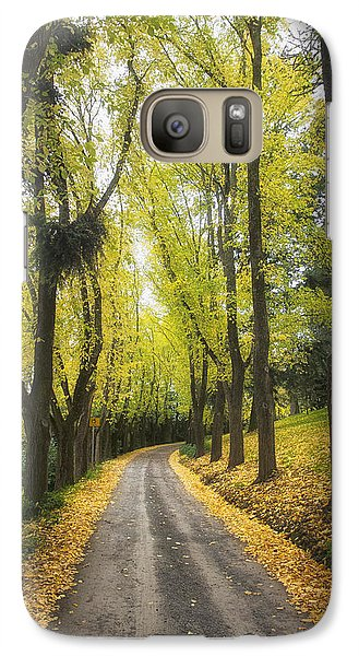 Galaxy Case featuring the photograph Autumns Day by Kim Andelkovic