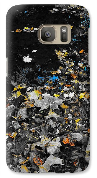 Galaxy Case featuring the photograph Autumn's Last Color by Photographic Arts And Design Studio