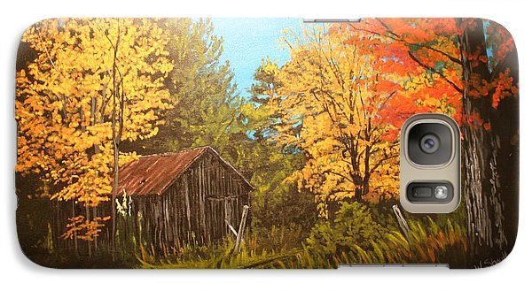 Galaxy Case featuring the painting Autumns Rustic Road by Wendy Shoults