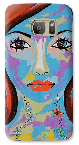 Galaxy Case featuring the painting Avani by Kathleen Sartoris
