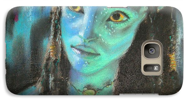 Galaxy Case featuring the pastel Avatar by Lori Ippolito