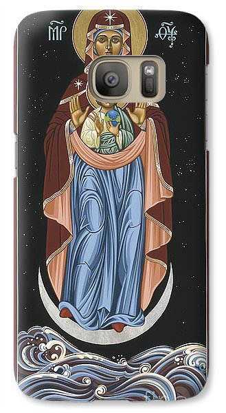 Galaxy Case featuring the painting Ave Maris Stella  Hail Star Of The Sea 044 by William Hart McNichols