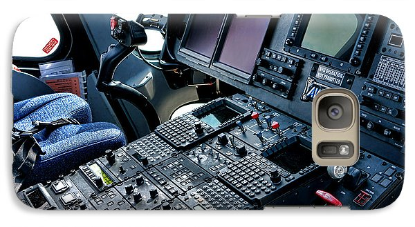 Helicopter Galaxy S7 Case - Aw139 Cockpit by Olivier Le Queinec