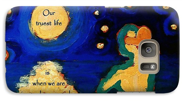 Galaxy Case featuring the digital art Awake In Our Dreams  by Janet McDonald