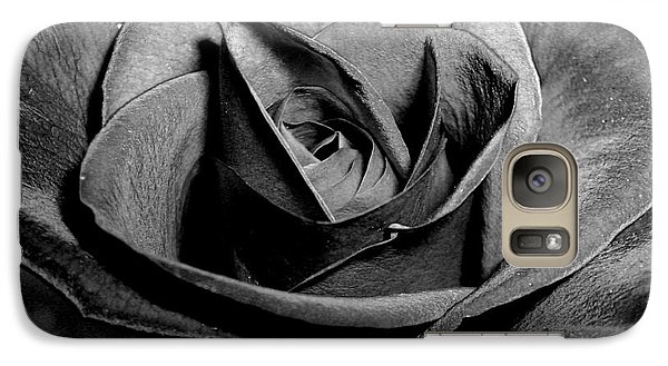 Galaxy Case featuring the photograph Awakened Black Rose by Nina Ficur Feenan