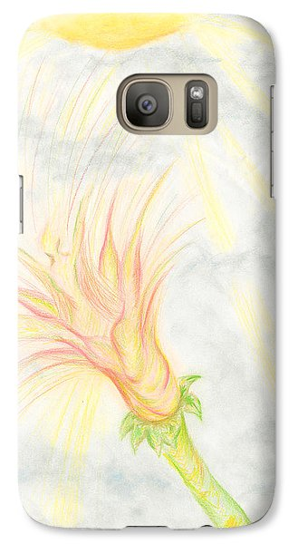 Galaxy Case featuring the drawing Awakening by Kim Sy Ok