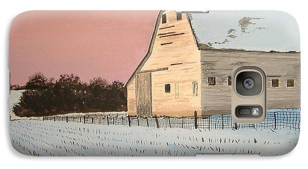 Galaxy Case featuring the painting Award-winning Original Acrylic Painting - Nebraska Barn by Norm Starks