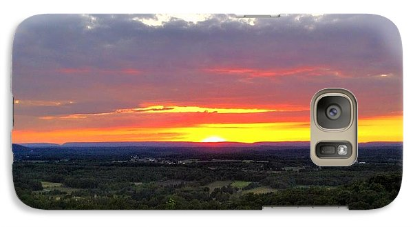 Galaxy Case featuring the photograph Awesome Sunset by Becky Lupe