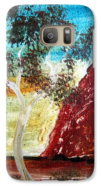 Galaxy Case featuring the painting Ayers Rock Australia Uluru 2 by Roberto Gagliardi