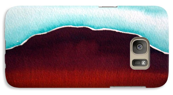 Galaxy Case featuring the painting Ayers Rock Australia Uluru 3 by Roberto Gagliardi