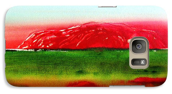 Galaxy Case featuring the painting Ayers Rock Australia Uluru by Roberto Gagliardi