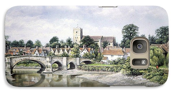 Galaxy Case featuring the painting Aylesford Bridge by Rosemary Colyer