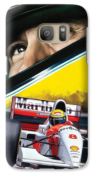 Galaxy Case featuring the painting Ayrton Senna Artwork by Sheraz A
