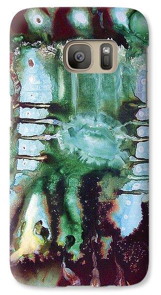 Galaxy Case featuring the painting Az2000 by Carolyn Goodridge