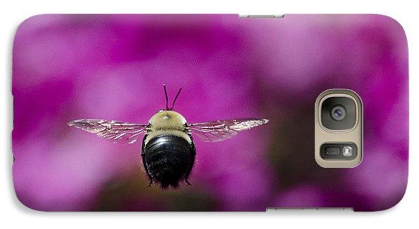Galaxy Case featuring the photograph Azalea Bush Bee by Brian Stevens