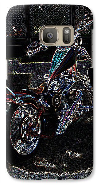 Galaxy Case featuring the digital art Aztec Neon Art by Lesa Fine