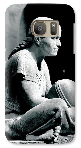 Galaxy Case featuring the photograph Aztec Woman by Bob Wall