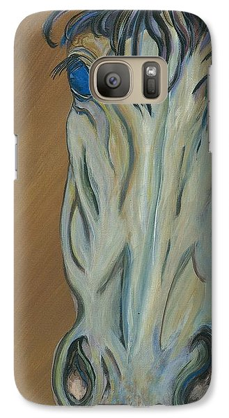 Galaxy Case featuring the painting Azul by Ella Kaye Dickey