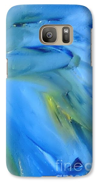 Galaxy Case featuring the painting Azul by Reina Resto