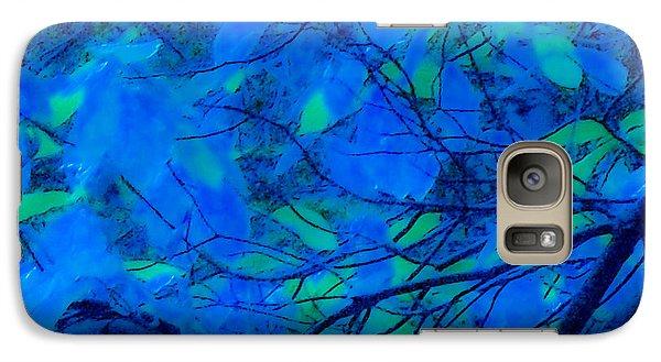 Galaxy Case featuring the digital art Azure Leaves by Kristen R Kennedy