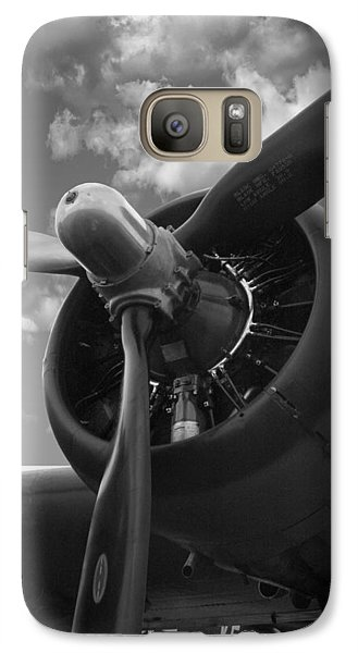 Galaxy Case featuring the photograph B-17 Engine by Rod Seel