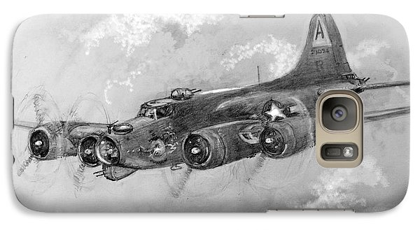 Galaxy Case featuring the drawing B-17 Flying Fortress by Jim Hubbard