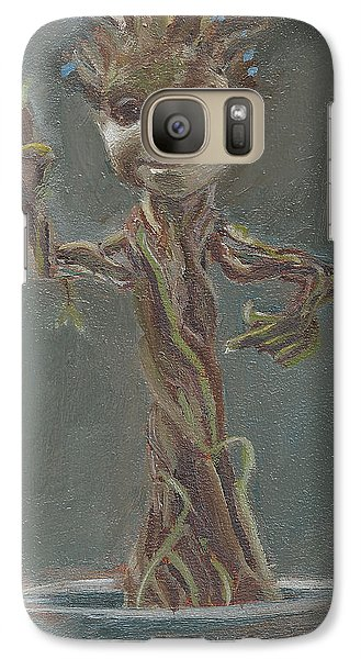 Galaxy Case featuring the painting B And G Is For Baby Groot by Jessmyne Stephenson