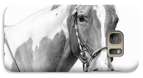 Galaxy Case featuring the painting B And W Study by JQ Licensing