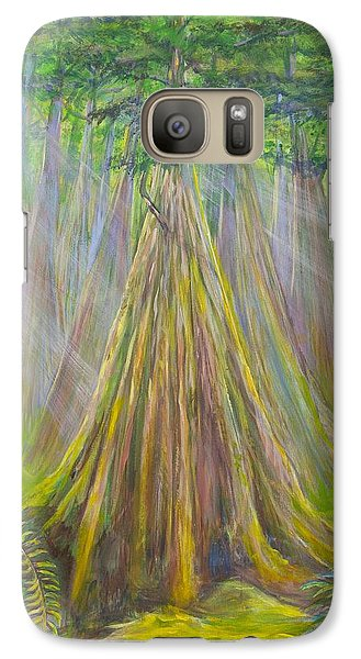 Galaxy Case featuring the painting B C Cedars by Cathy Long