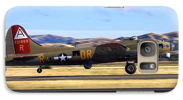 B17 Flying Fortress Departs Livermore Klvk Galaxy S7 Case