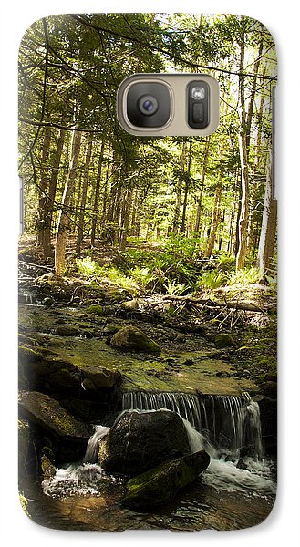 Galaxy Case featuring the photograph Babbling Battie Brook by Daniel Hebard