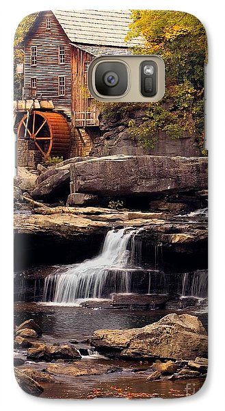 Galaxy Case featuring the photograph Babcock Grist Mill And Falls by Jerry Fornarotto