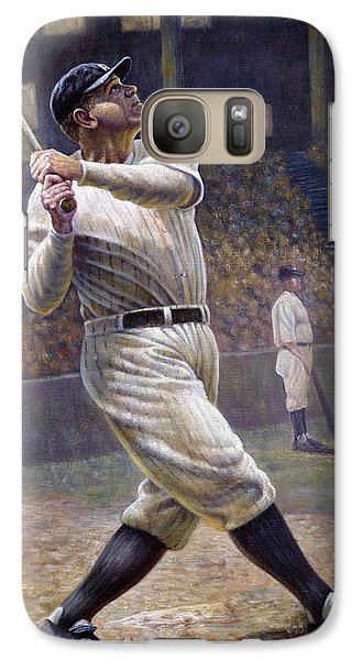 Babe Ruth Galaxy S7 Case by Gregory Perillo