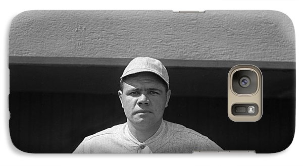 Babe Ruth In Red Sox Uniform Galaxy S7 Case by Underwood Archives