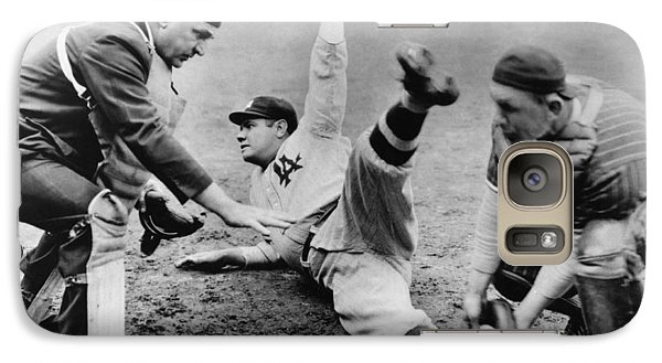 Babe Ruth Slides Home Galaxy S7 Case by Underwood Archives