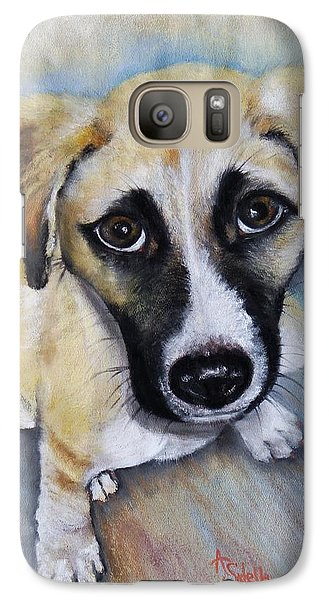 Galaxy Case featuring the painting Baby Addie by Annamarie Sidella-Felts