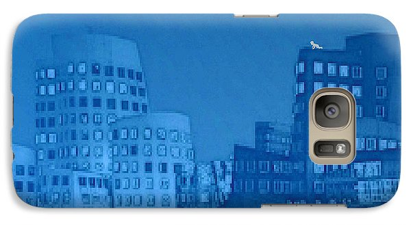 Galaxy Case featuring the digital art Baby Blue by Mojo Mendiola