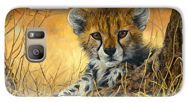 Baby Cheetah  Galaxy Case by Lucie Bilodeau