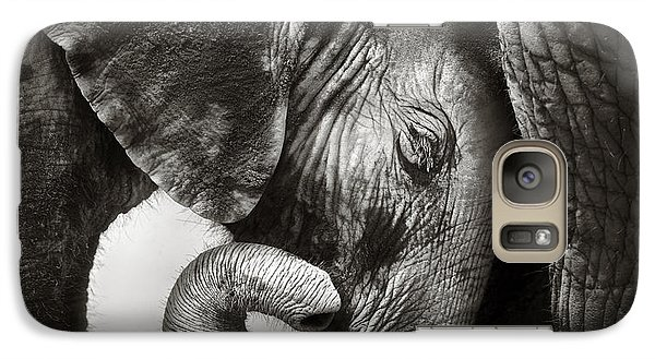 Bass Galaxy S7 Case - Baby Elephant Seeking Comfort by Johan Swanepoel